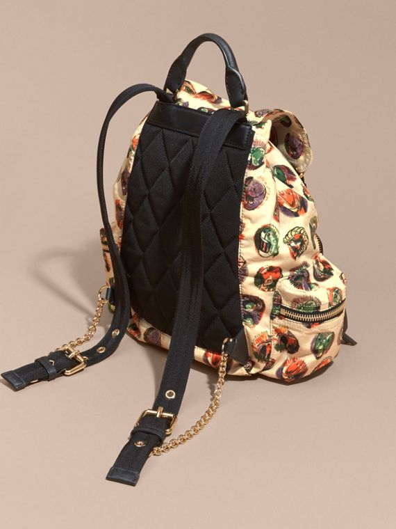 The Medium Rucksack in Technical Nylon with Pallas Heads Print - cell image 3