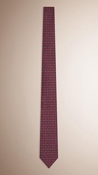 Cravate étroite en soie Paisley