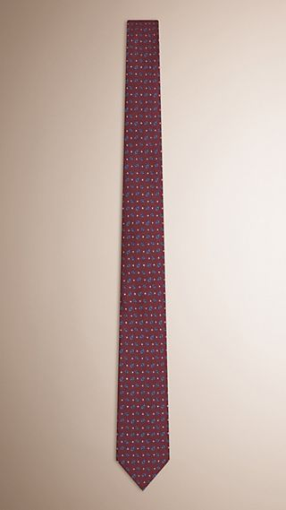 Slim Cut Paisley Silk Tie