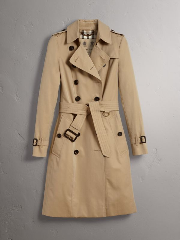 The Chelsea – Long Trench Coat in Honey - Women | Burberry United States - cell image 3