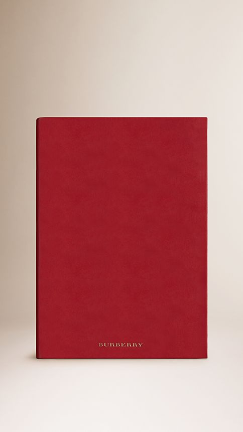 Military red Large Sartorial Leather Notebook - Image 1