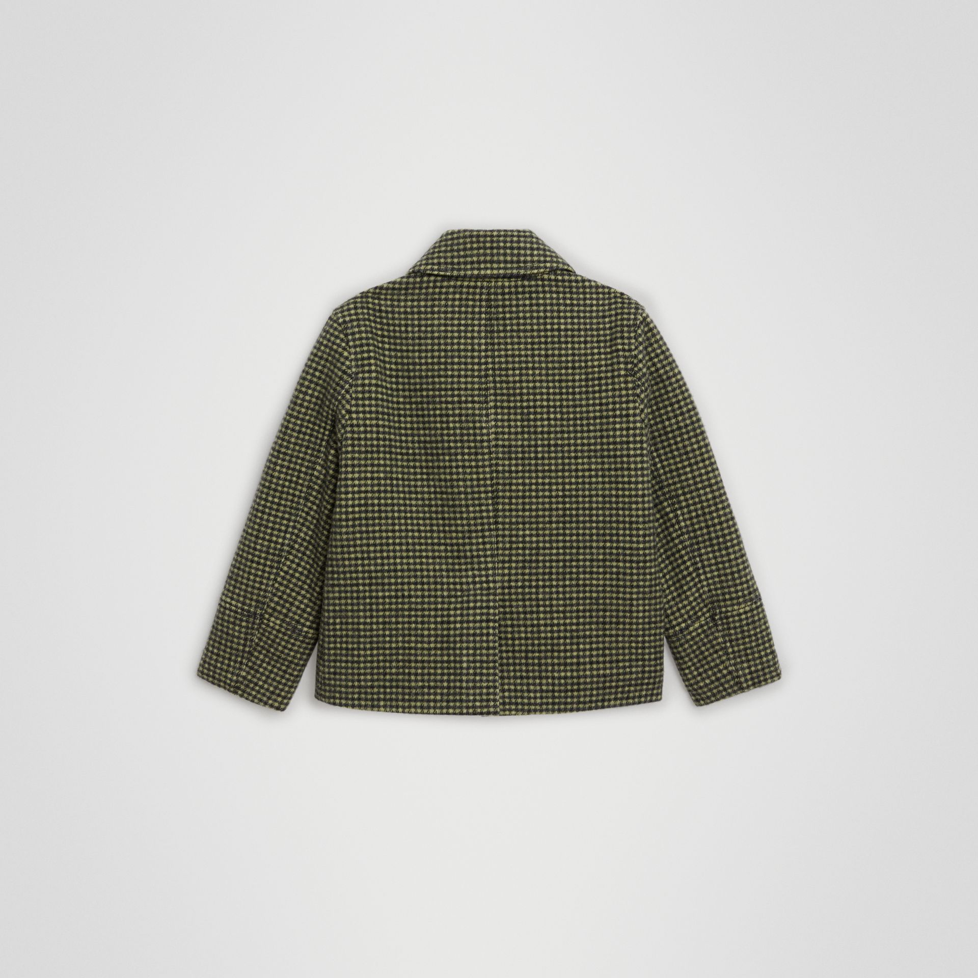 Check Wool Blend Tailored Coat in Grass Green | Burberry United Kingdom - gallery image 3