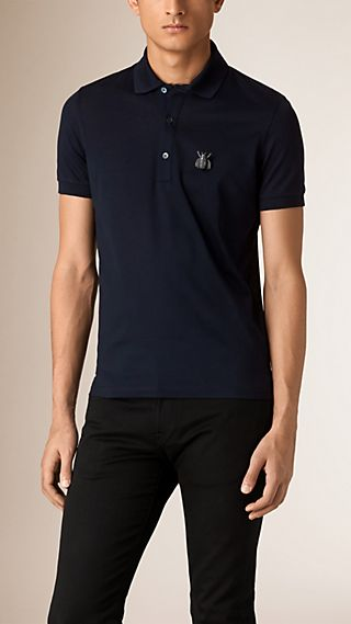 Beetle Pin Cotton Piqué Polo Shirt