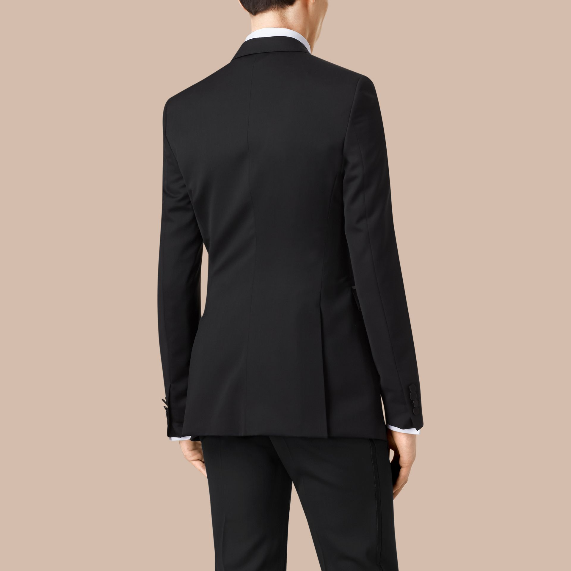 Satin Lapel Tuxedo Jacket Black - gallery image 4