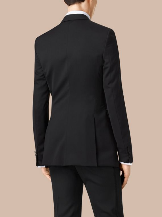 Black Satin Lapel Tuxedo Jacket - cell image 3