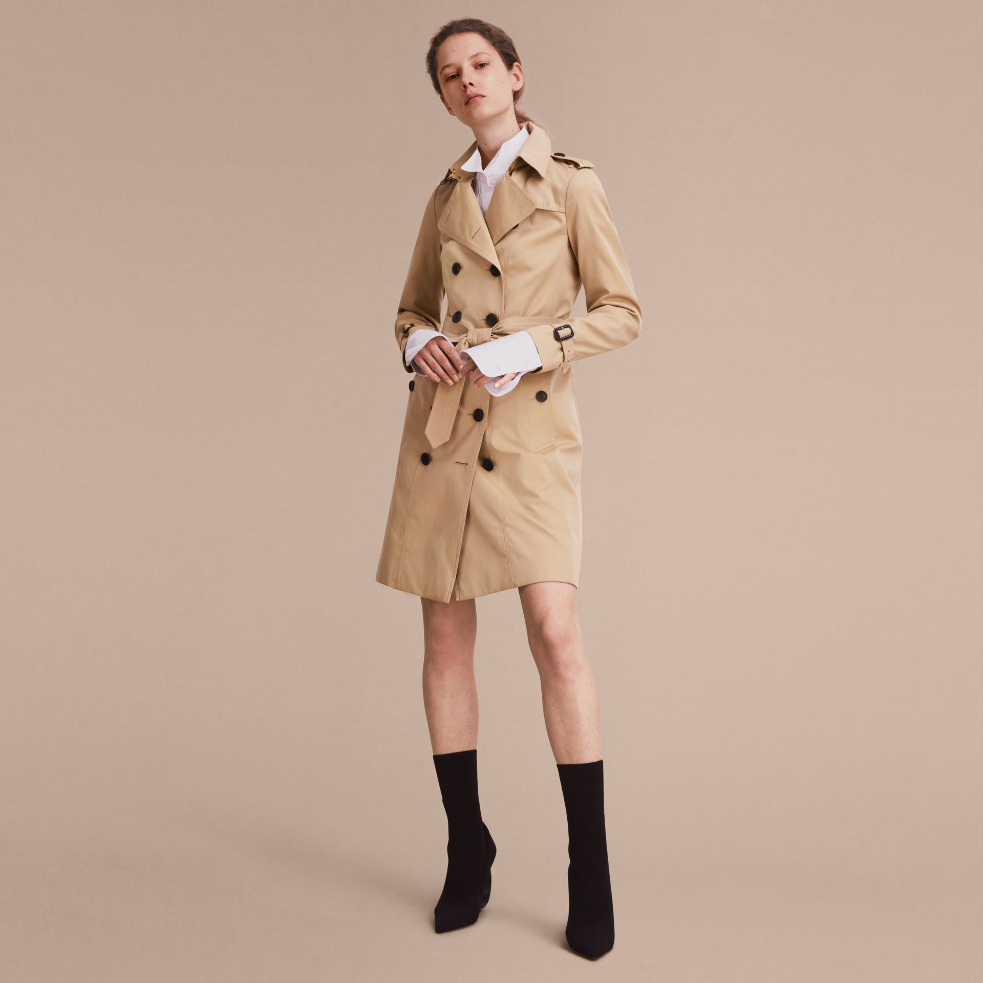 Honey The Sandringham – Long Heritage Trench Coat Honey - gallery image 8