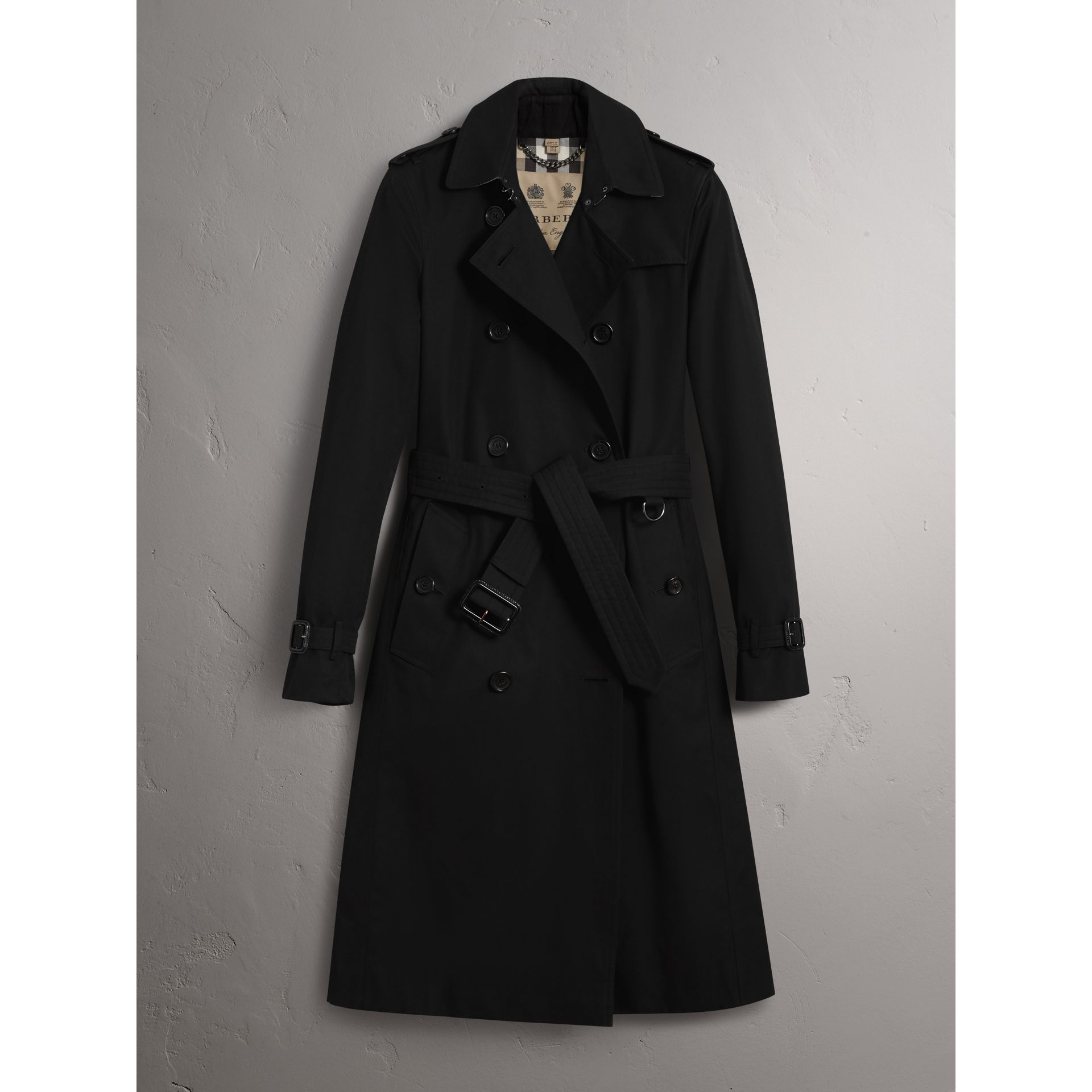 The Kensington – Extra-long Trench Coat in Black - Women | Burberry - gallery image 4