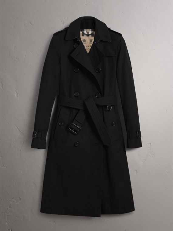 The Kensington - Trench coat Heritage extra lungo (Nero) - Donna | Burberry - cell image 3