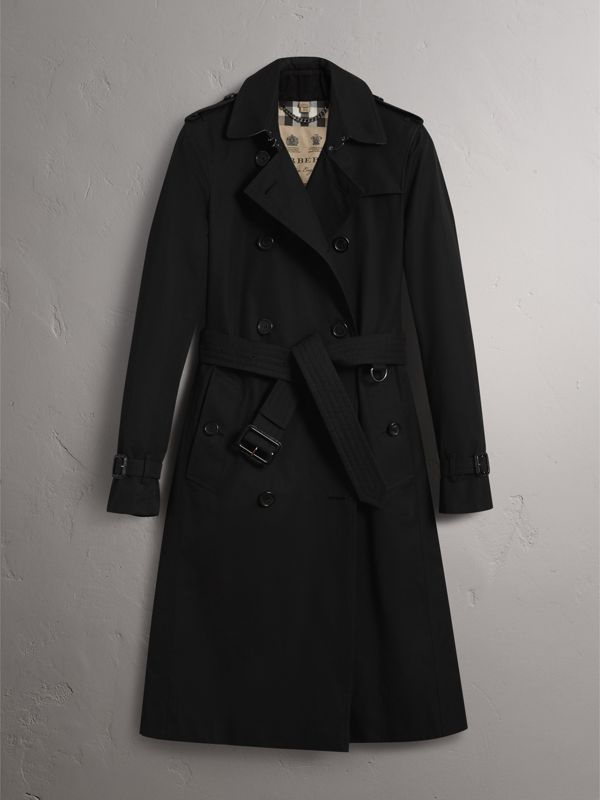 The Kensington – Extra-long Trench Coat in Black - Women | Burberry United States - cell image 3