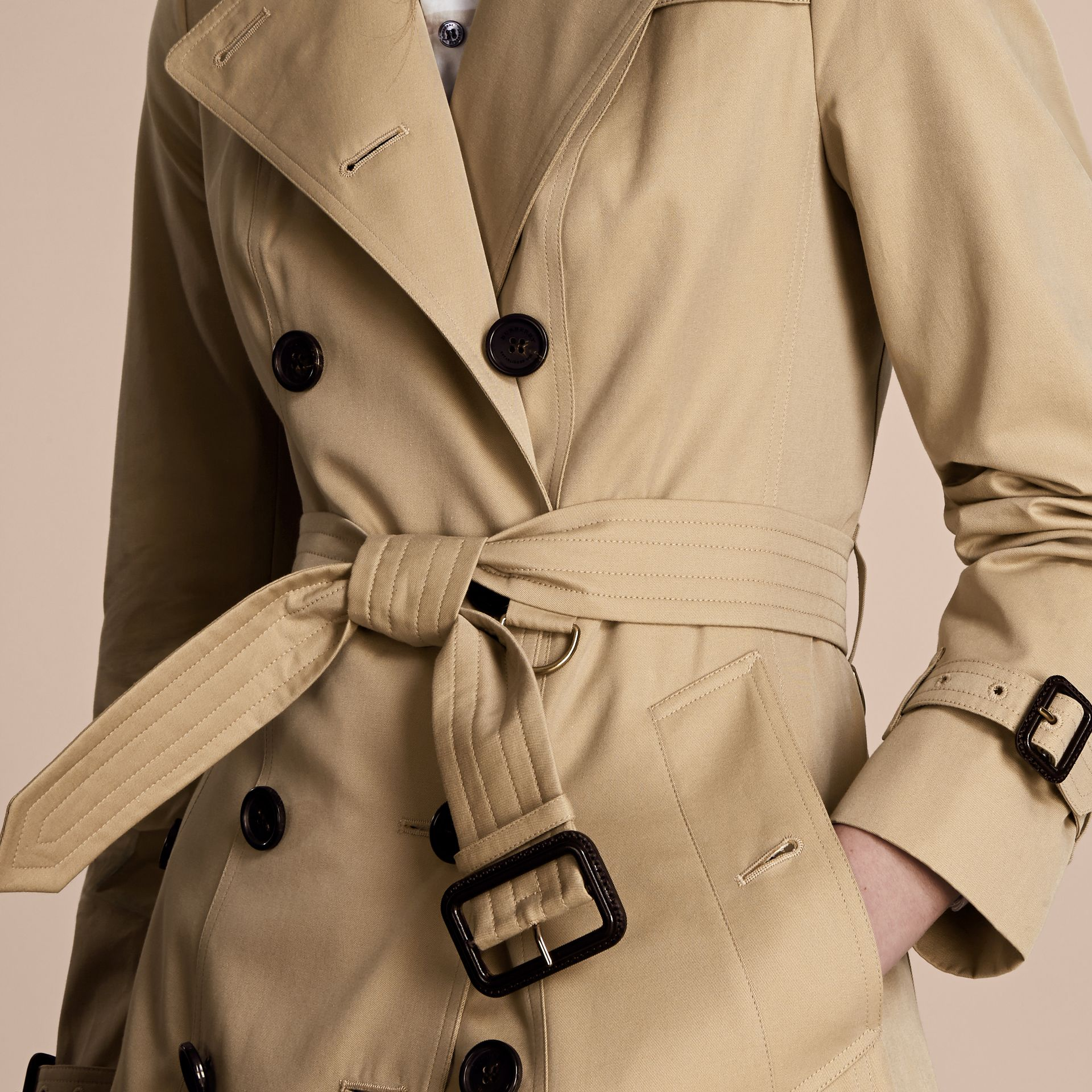 Honey The Sandringham – Extra-long Heritage Trench Coat Honey - gallery image 6