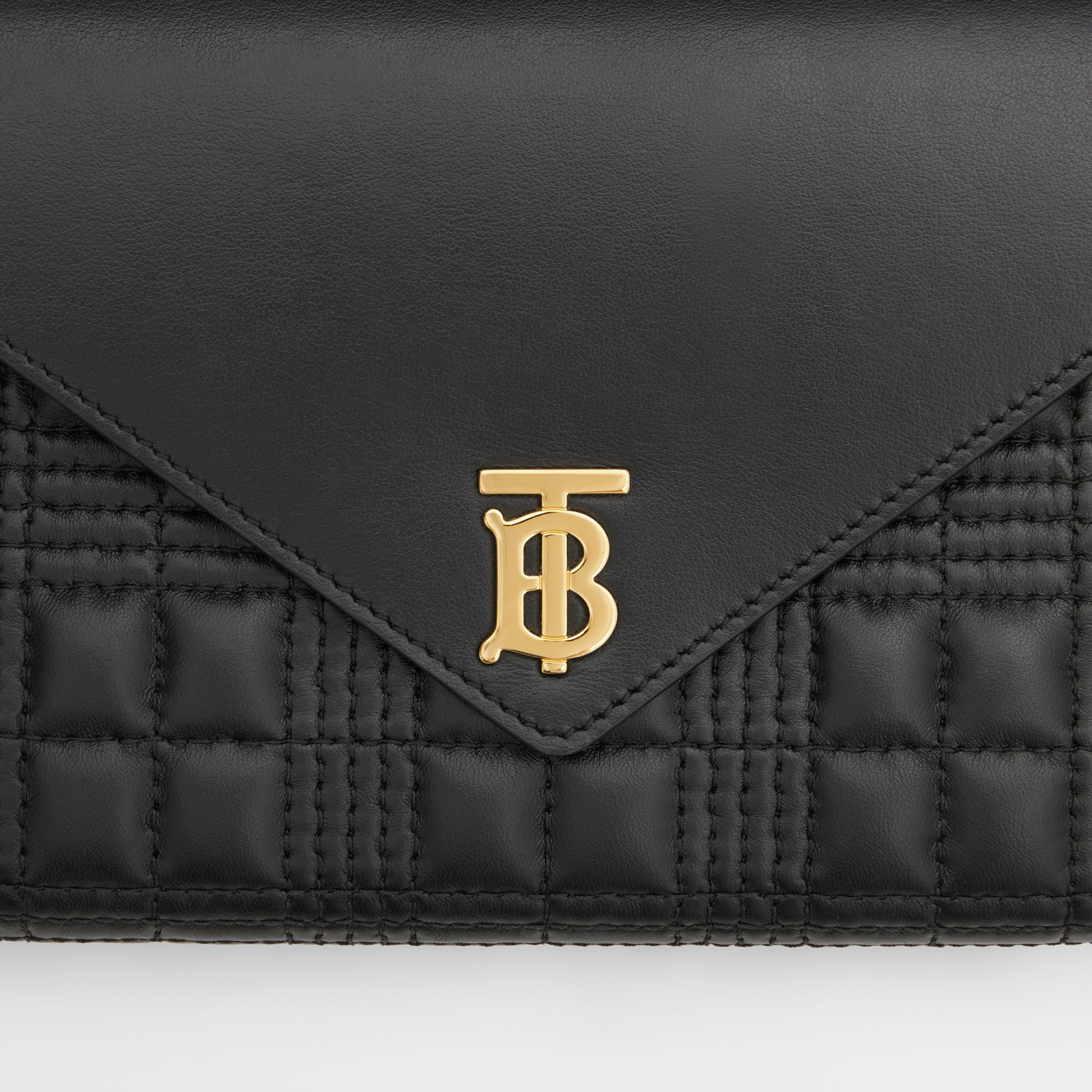 Quilted Lambskin Wallet with Detachable Chain Strap in Black - Women | Burberry - 2