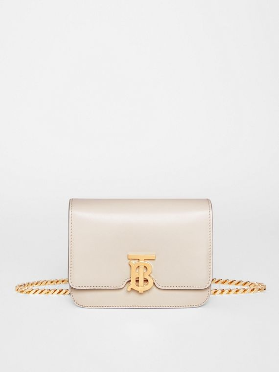 Belted Leather TB Bag in Vanilla