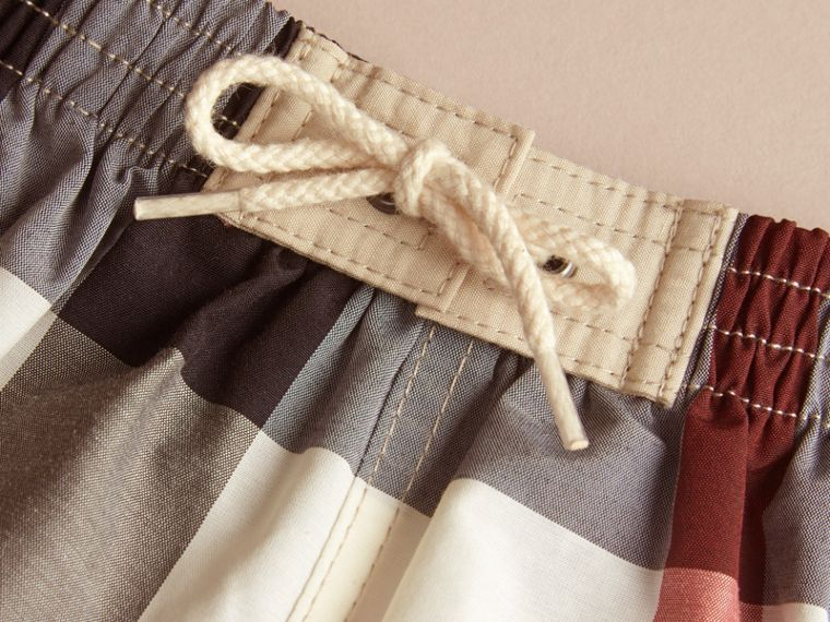 Check Technical Cotton Swim Shorts in New Classic | Burberry - cell image 1