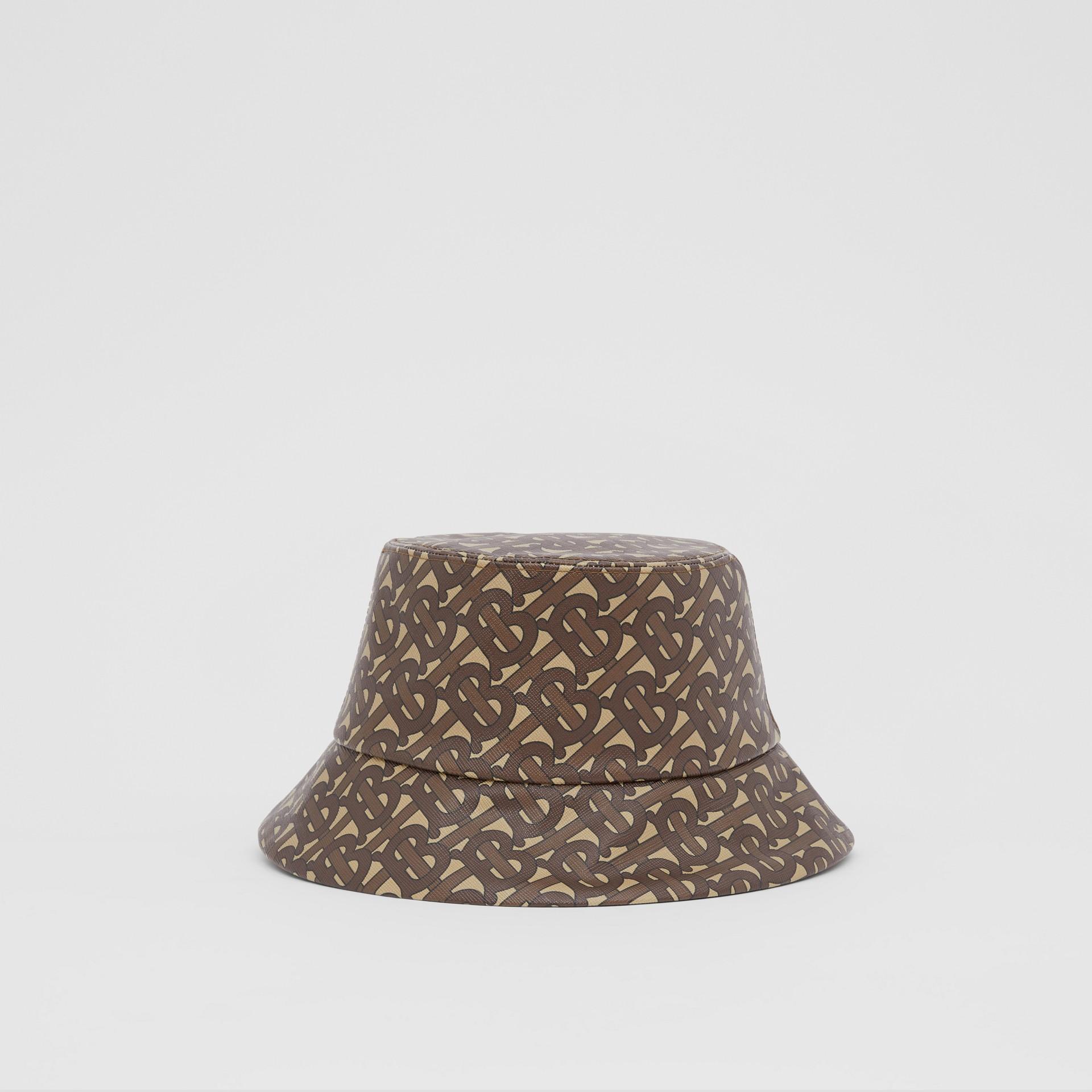 Monogram Print Bucket Hat in Bridle Brown | Burberry Canada - gallery image 4