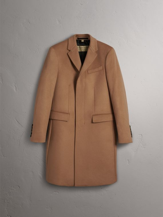 Wool Cashmere Tailored Coat in Camel - Men | Burberry United Kingdom - cell image 3
