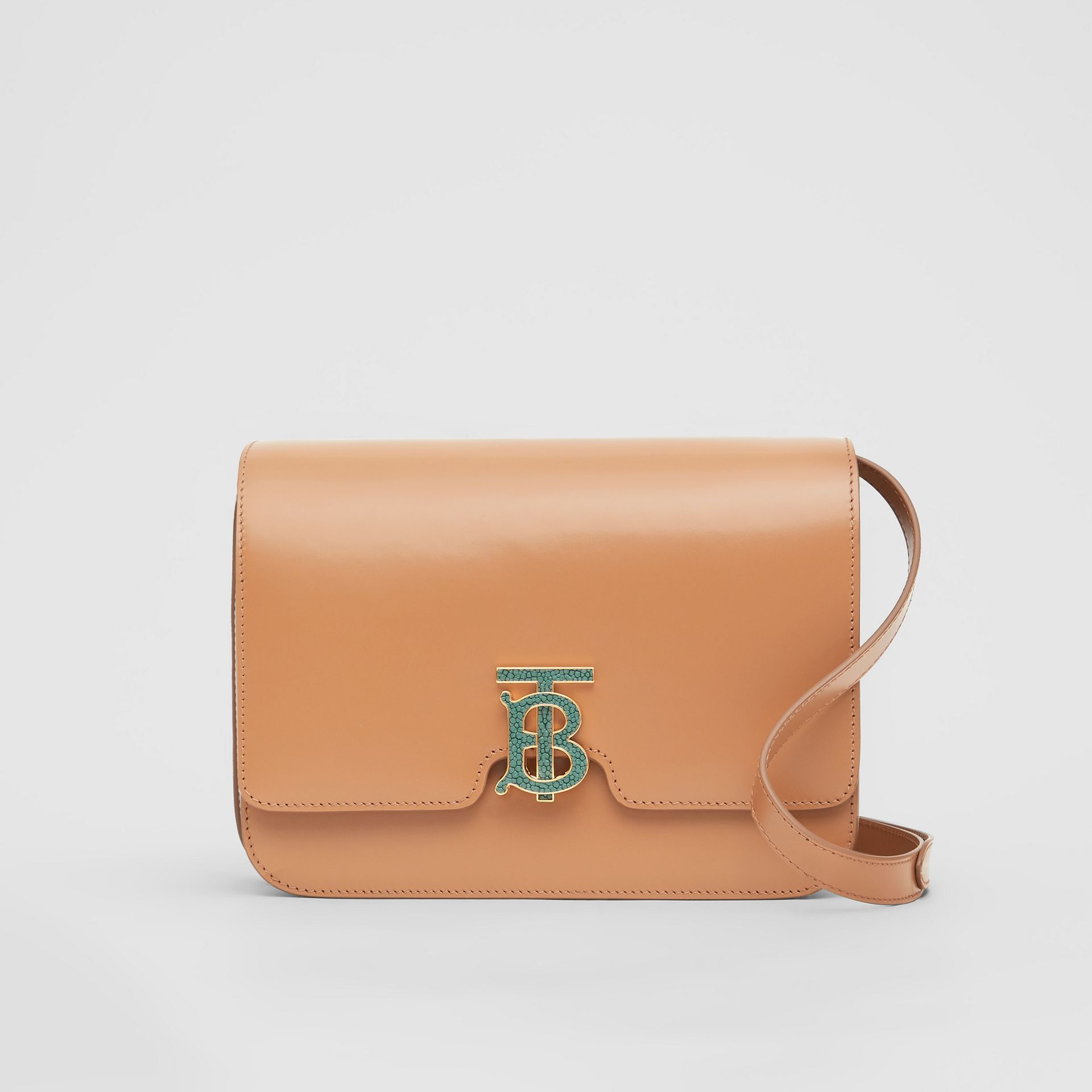 Medium Leather TB Bag in Flaxseed - Women | Burberry - gallery image 0