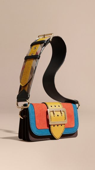 The Small Buckle Bag in Textured Leather