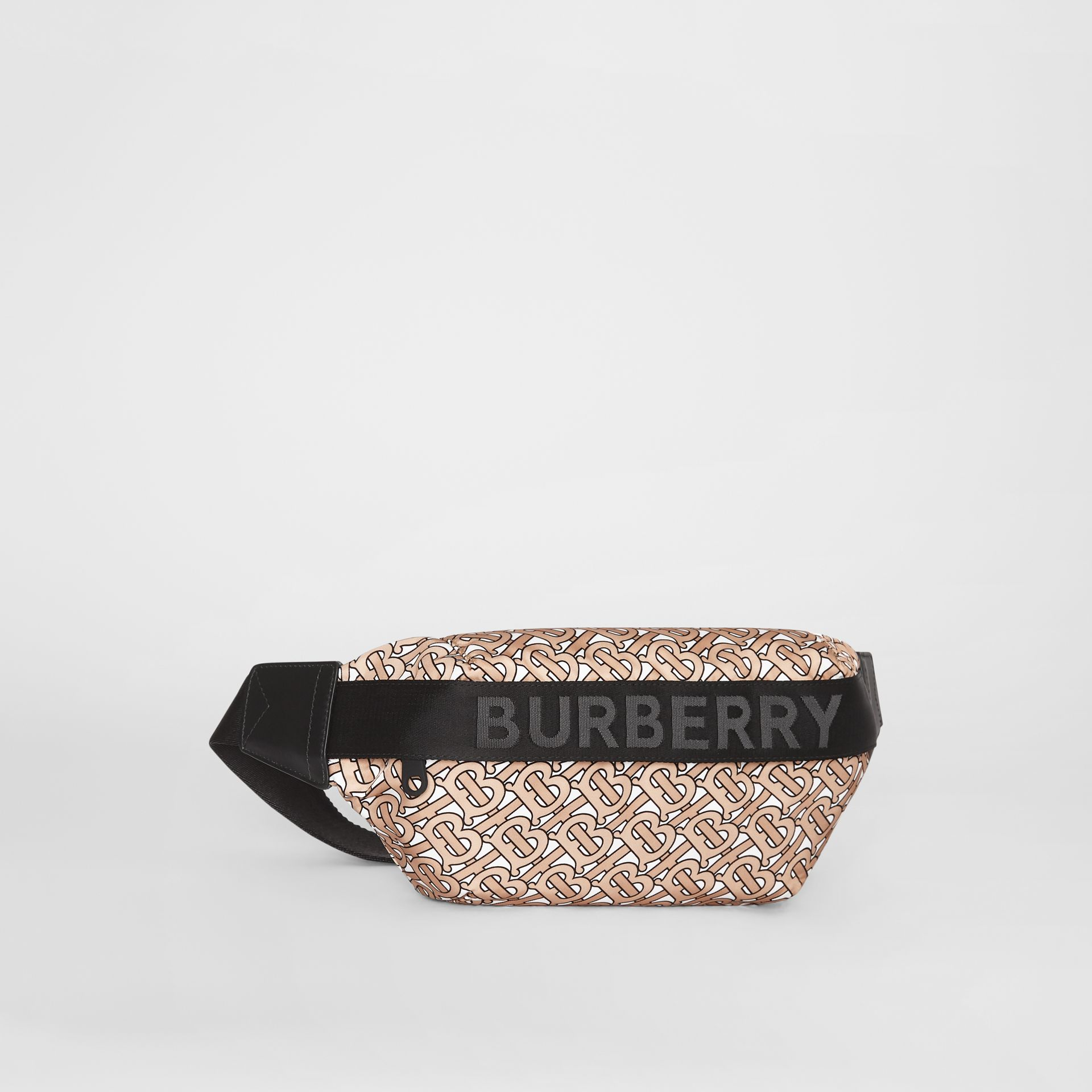 Medium Monogram Print Bum Bag in Beige | Burberry Canada - gallery image 8