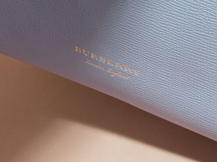 The Small Banner in Leather and House Check Slate Blue - cell image 1