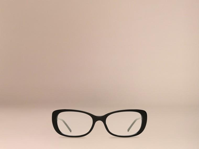 Black Gabardine Collection Oval Optical Frames Black - cell image 1