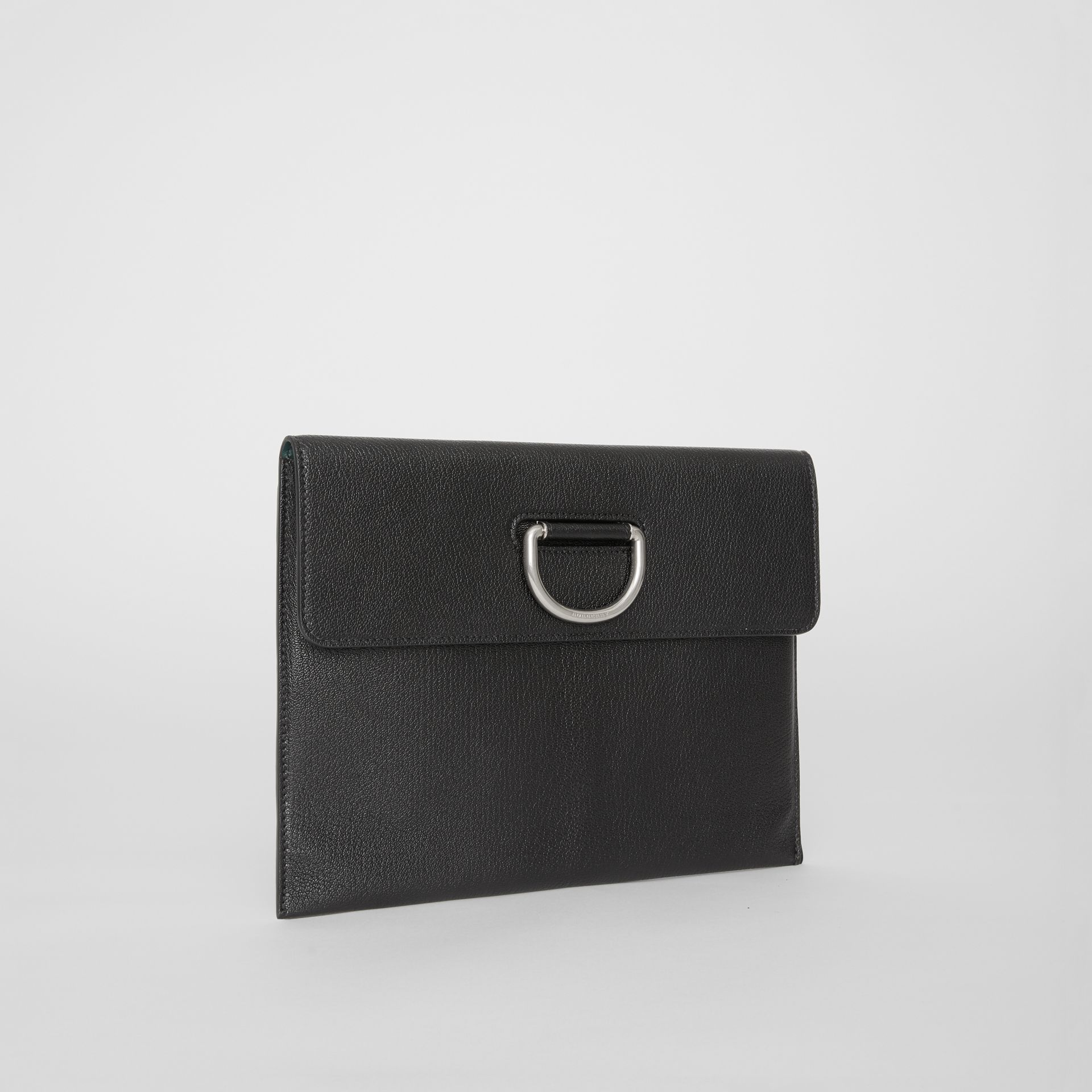 D-ring Leather Pouch in Black - Women | Burberry Australia - gallery image 4