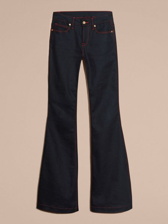 Indaco Jeans a zampa in denim stretch - cell image 3