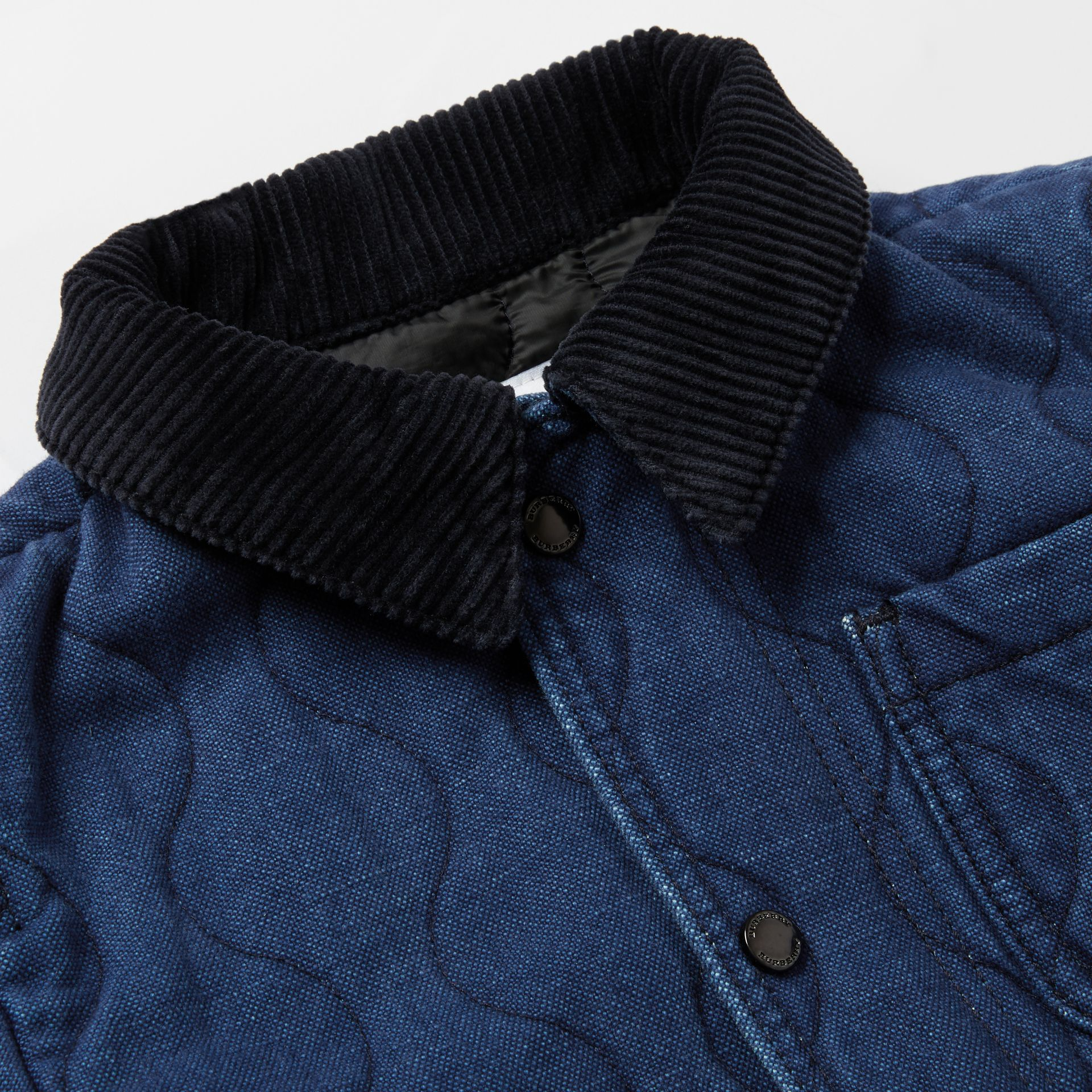 Quilted Denim Jacket in Indigo | Burberry - gallery image 1