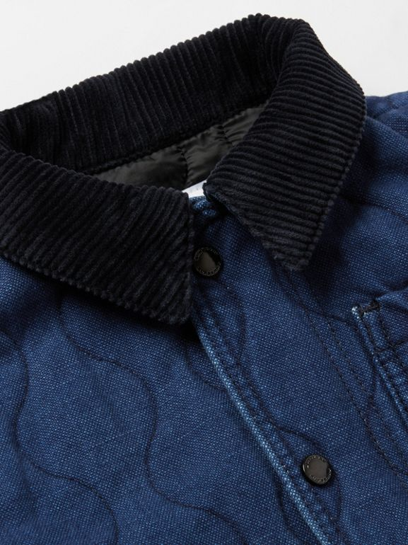 Quilted Denim Jacket in Indigo | Burberry Australia - cell image 1