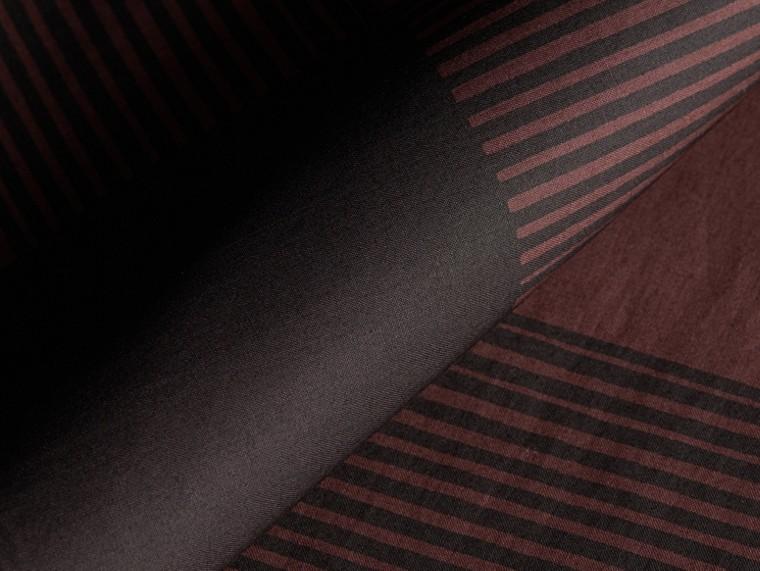 Burgundy Camisa de algodão com estampa xadrez Burgundy - cell image 1