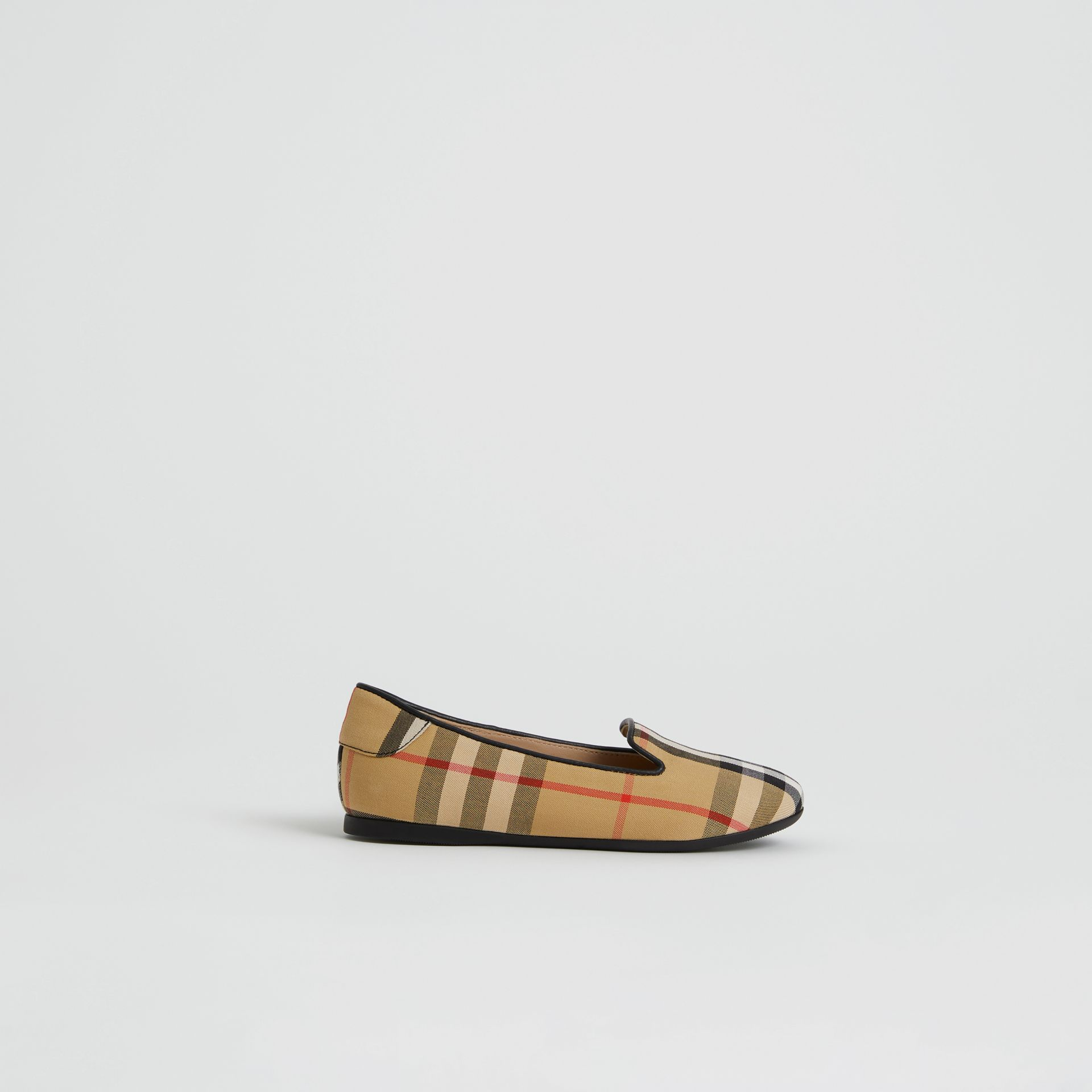 Vintage Check Slippers in Antique Yellow | Burberry United States - gallery image 3