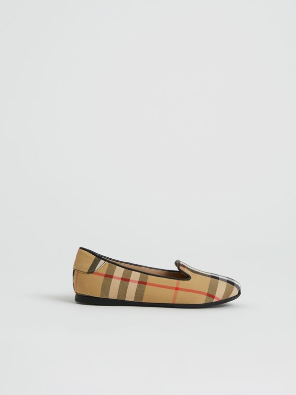 Chaussures sans lacets à motif Vintage check (Jaune Antique) | Burberry - cell image 3