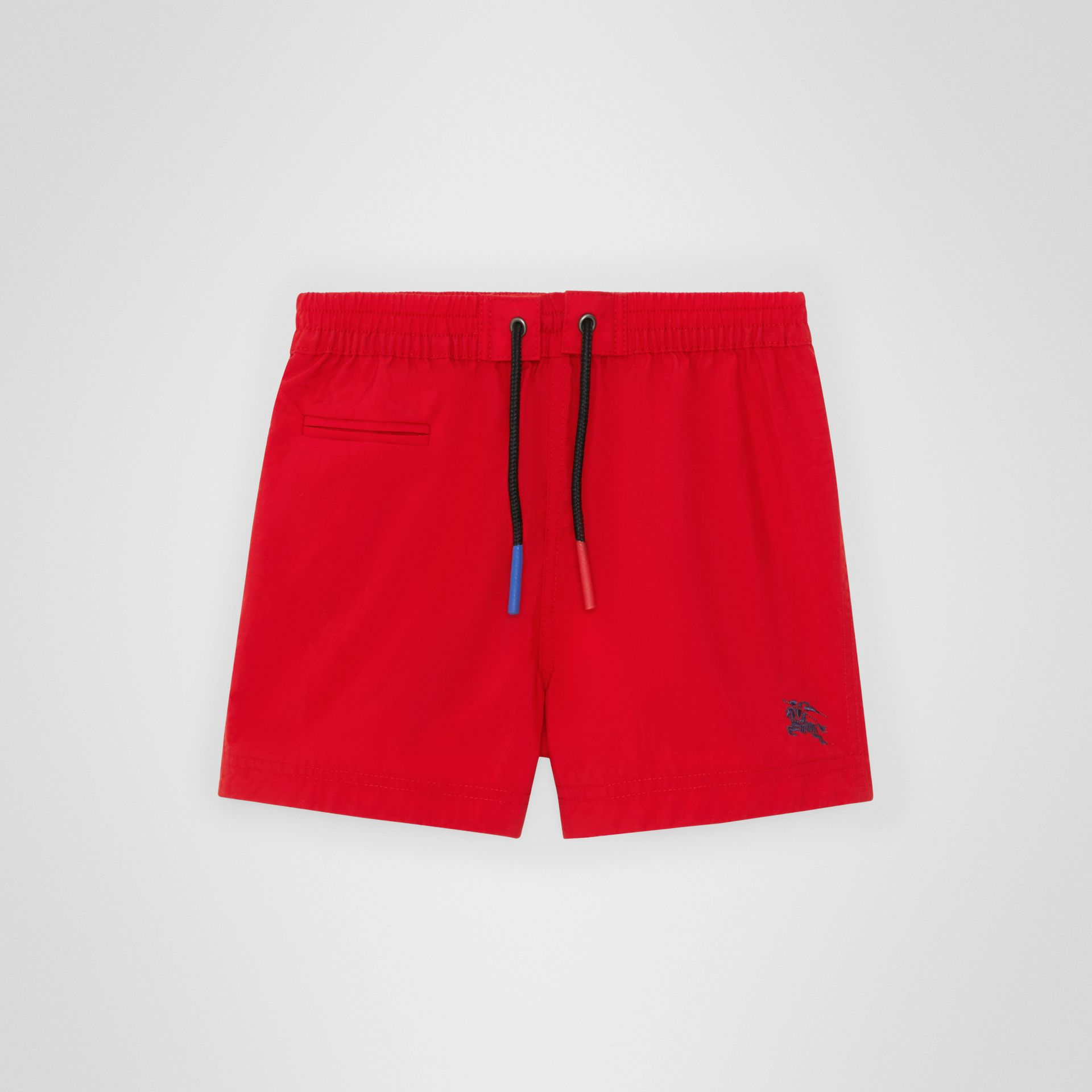 Drawcord Swim Shorts in Military Red - Children | Burberry Australia - gallery image 0