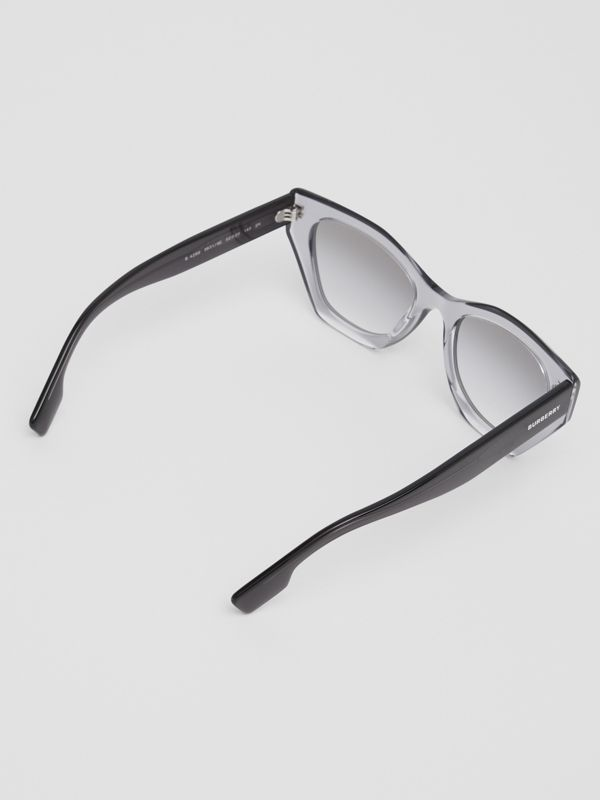 Butterfly Frame Sunglasses in Grey - Women | Burberry - cell image 3