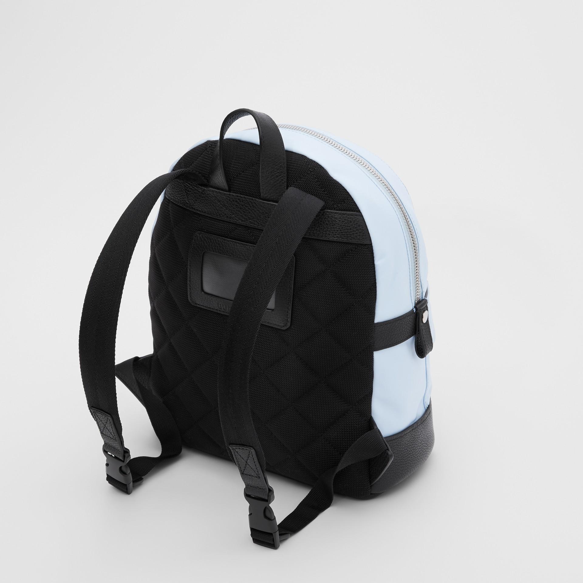 Logo Appliqué Icon Stripe ECONYL® Backpack in Pale Blue - Children | Burberry United Kingdom - gallery image 2