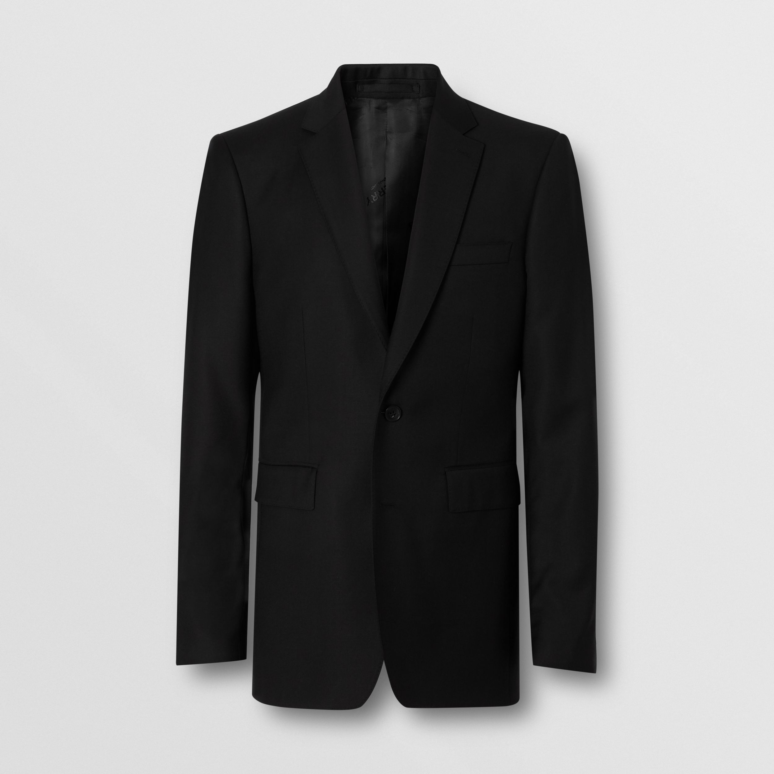 Classic Fit Wool Suit in Black - Men | Burberry - 4