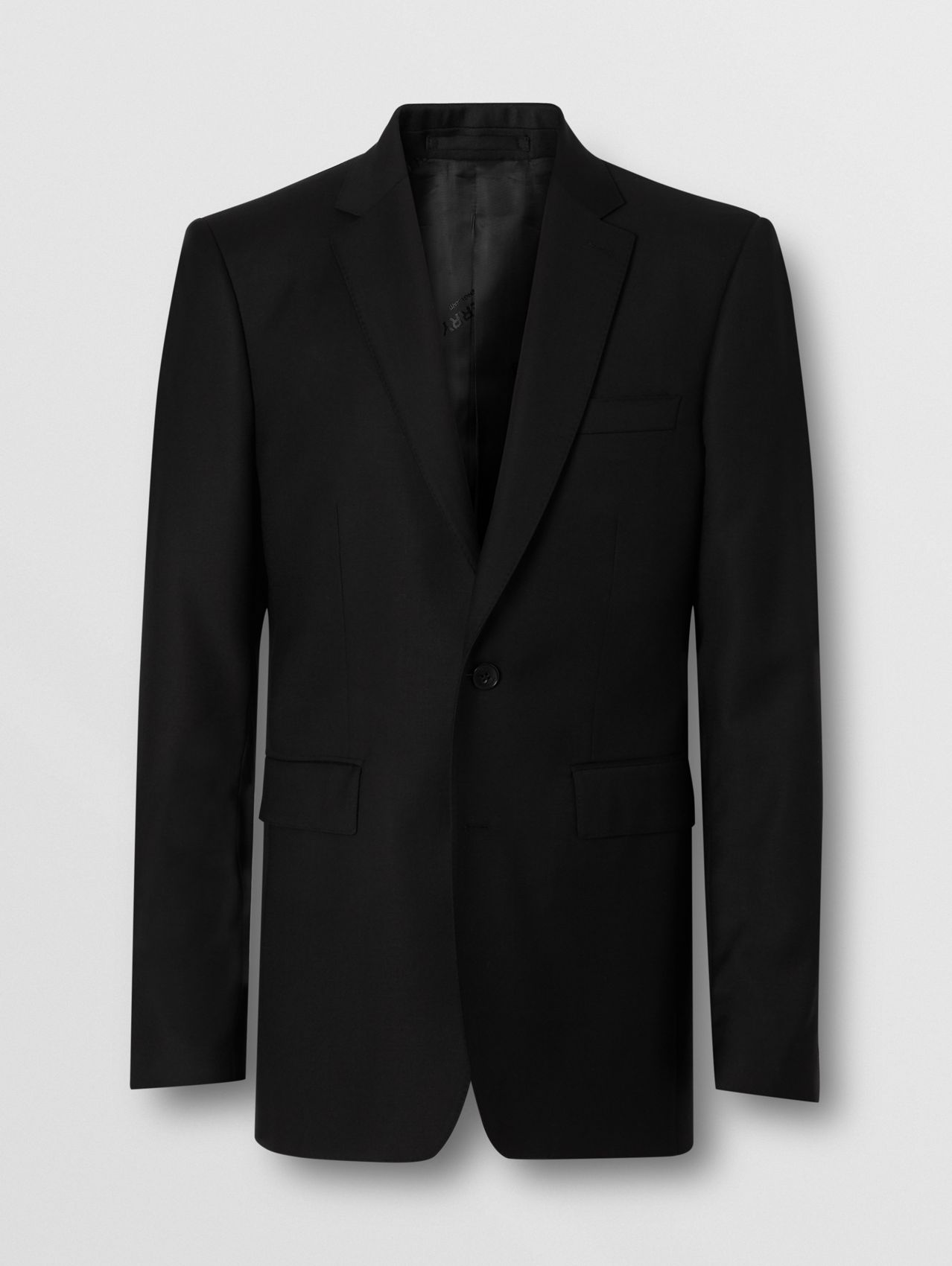 Classic Fit Wool Suit in Black
