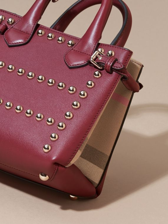 Garnet pink The Baby Banner in Studded Leather and House Check - cell image 3
