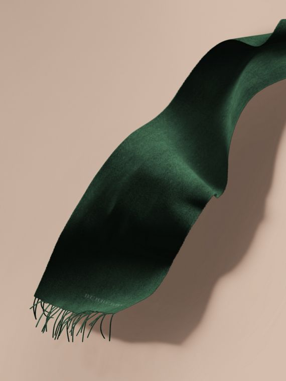 The Classic Cashmere Scarf in Dark Forest Green | Burberry