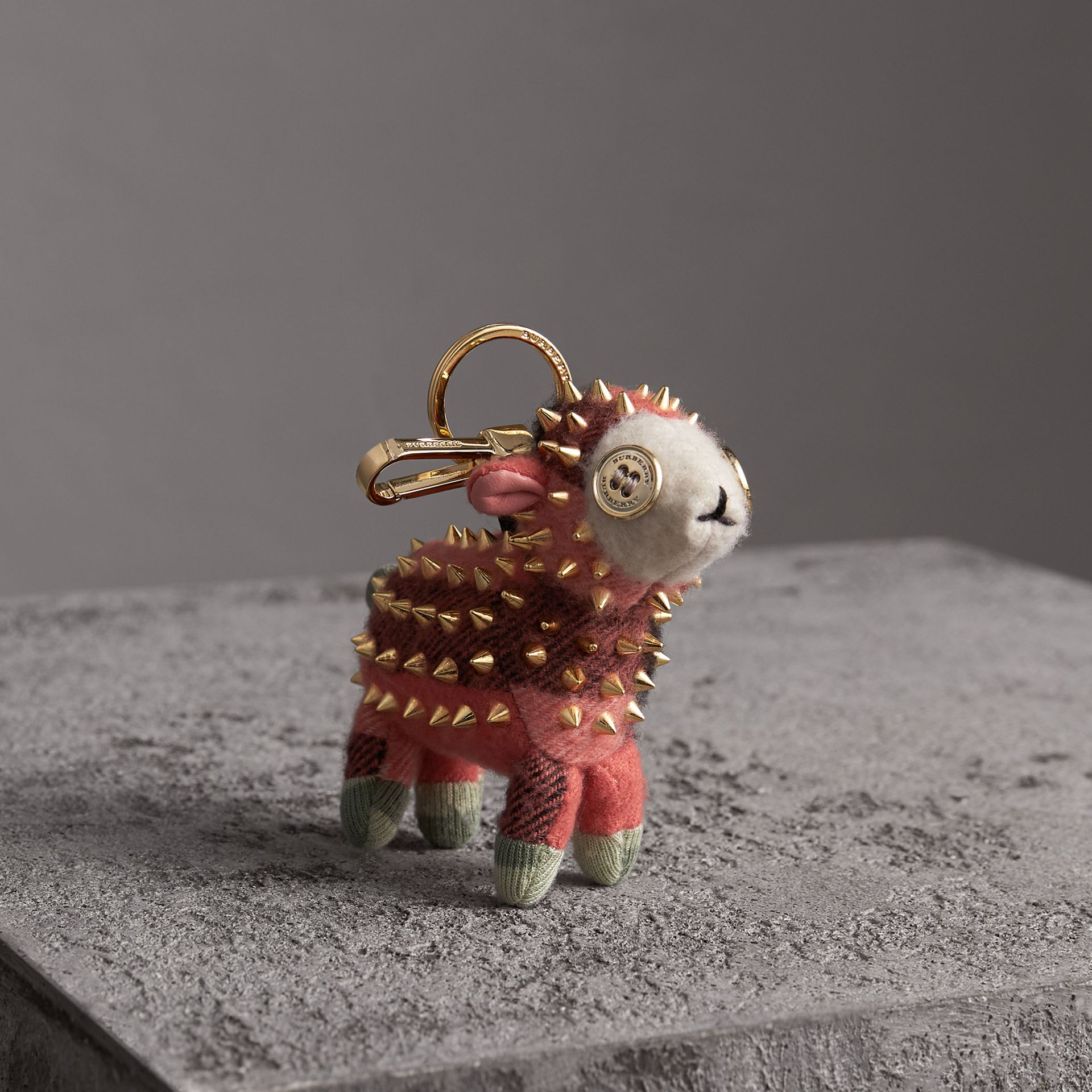 Wendy The Sheep Cashmere Charm in Coral | Burberry - gallery image 0