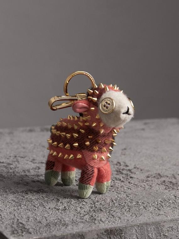 Bijou porte-clés en cachemire Wendy le Mouton (Corail)