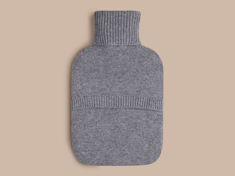 Mid grey melange The Brit Girl Graphic Cashmere Hot Water Bottle Cover - cell image 1