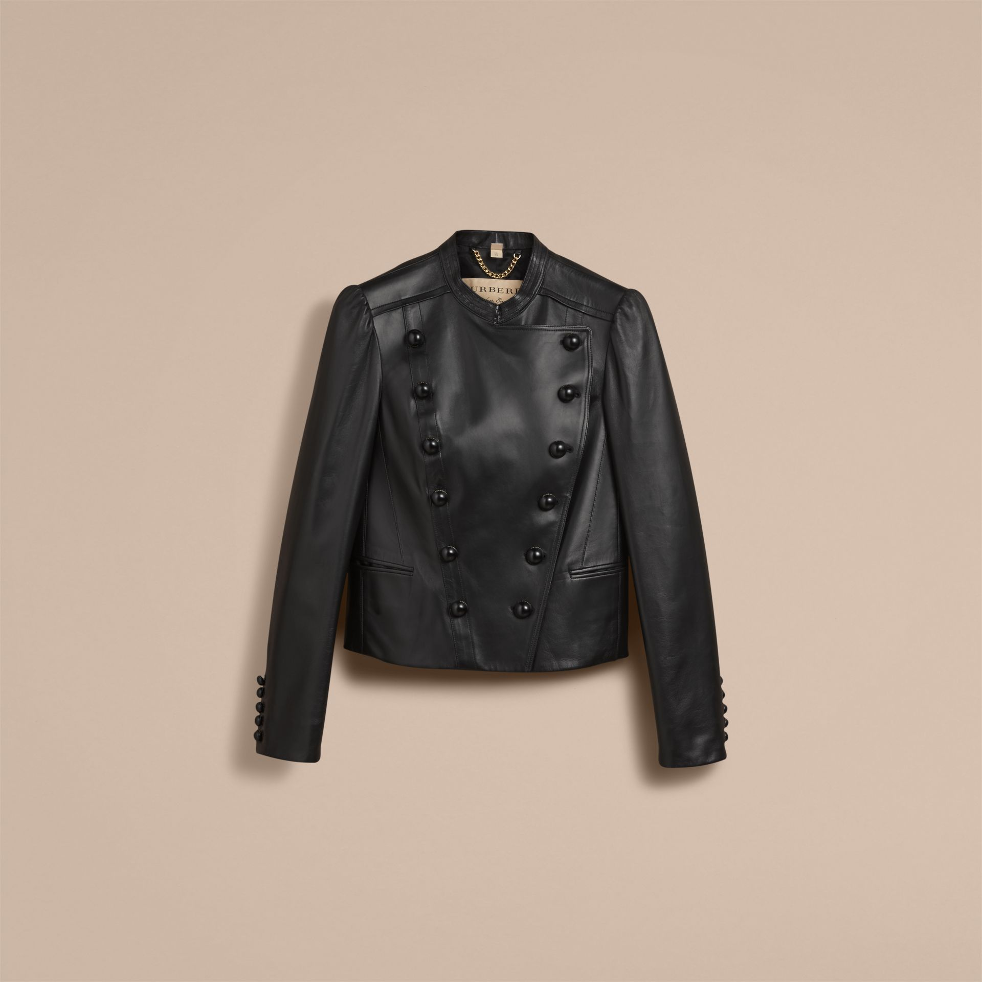 Lambskin Double-breasted Jacket - gallery image 4