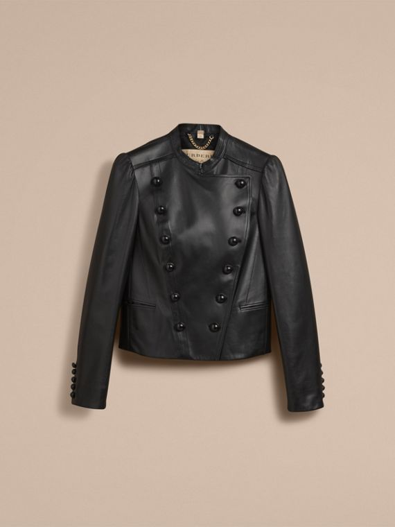 Lambskin Double-breasted Jacket - cell image 3