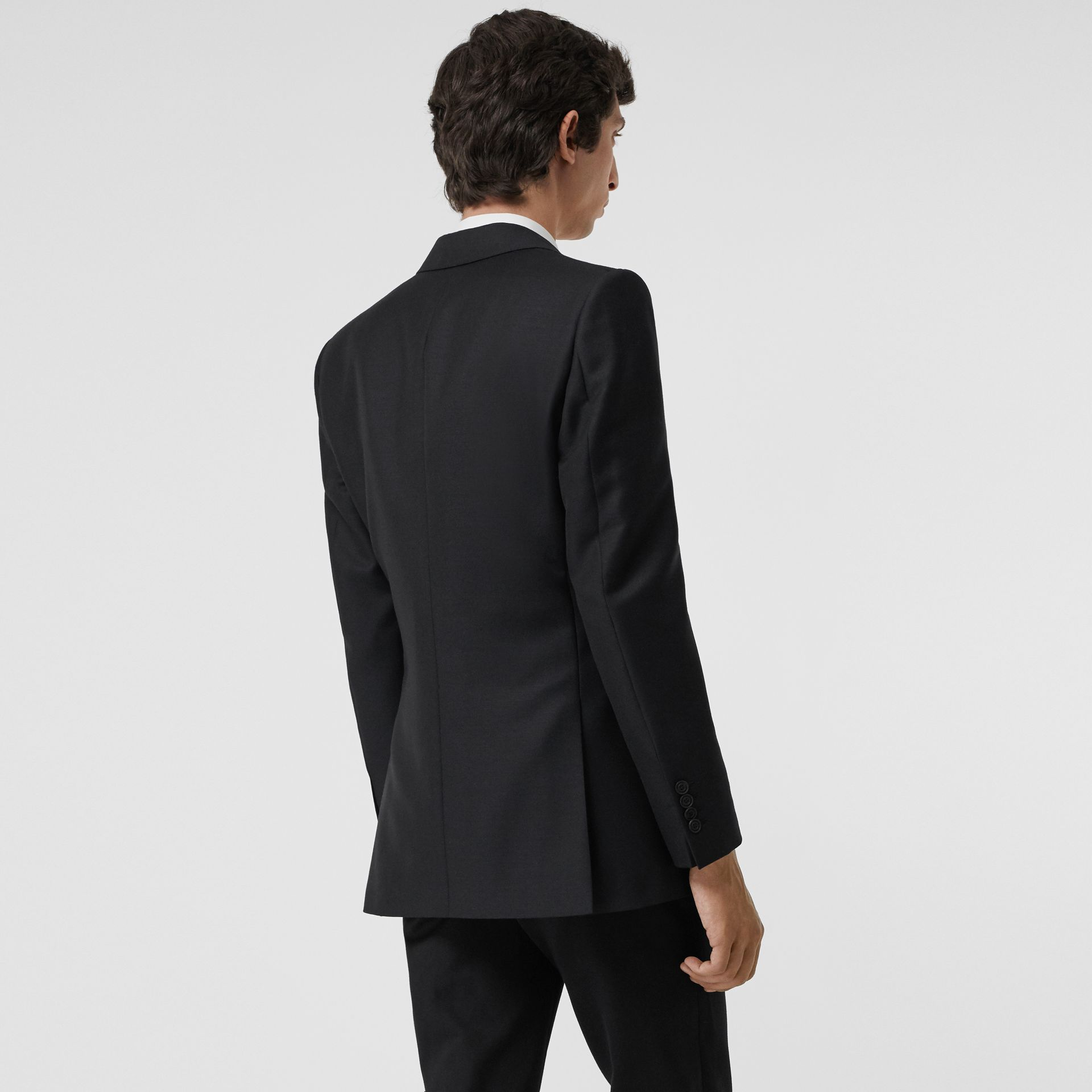슬림핏 울 모헤어 테일러드 재킷 (블랙) - 남성 | Burberry - 갤러리 이미지 1