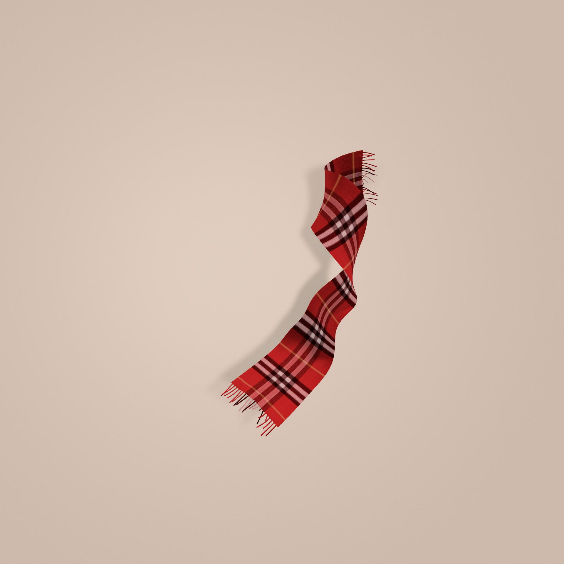 Rouge parade Écharpe classique en cachemire à motif check Rouge Parade - photo de la galerie 1