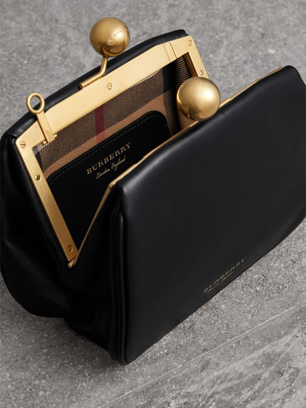 Small Leather Frame Bag in Black - Women | Burberry Australia - cell image 3