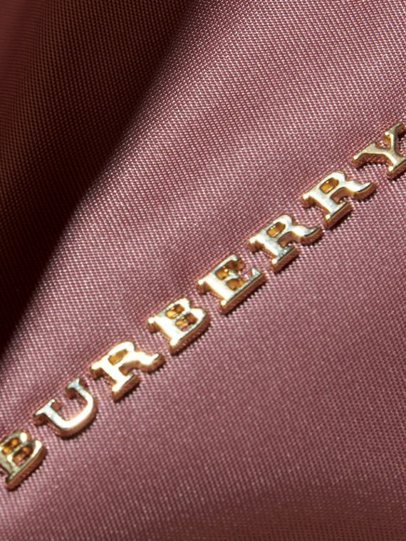 Large Zip-top Technical Nylon Pouch in Mauve Pink - Women | Burberry - cell image 3