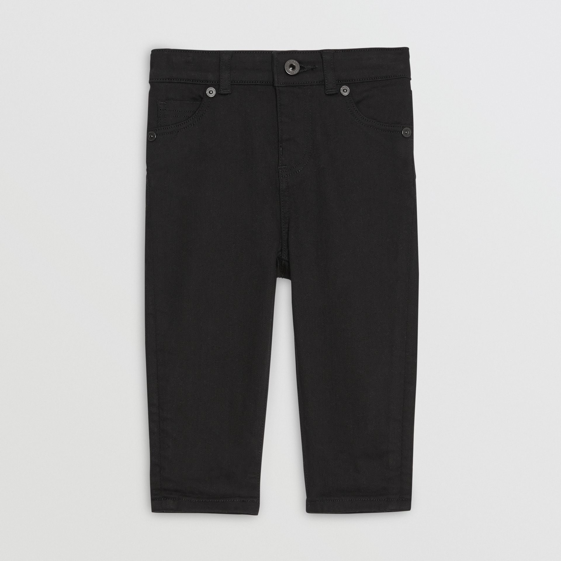 Skinny Fit Stretch Denim Jeans in Black - Children | Burberry - gallery image 0