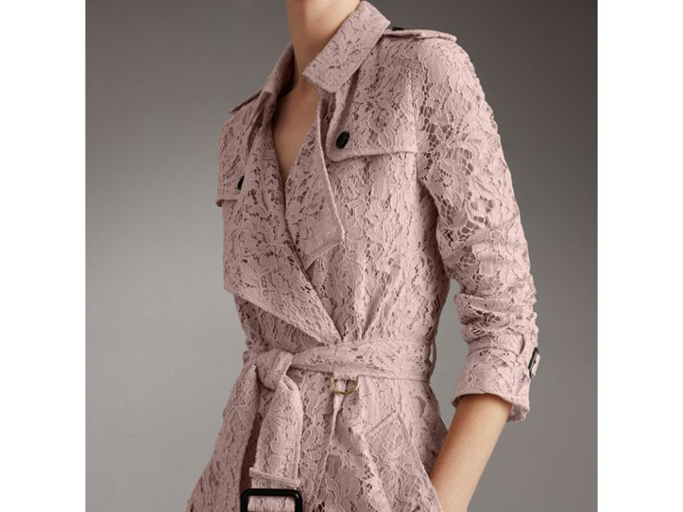 Macramé Lace Wrap Trench Coat in Nude - Women | Burberry United States - cell image 4