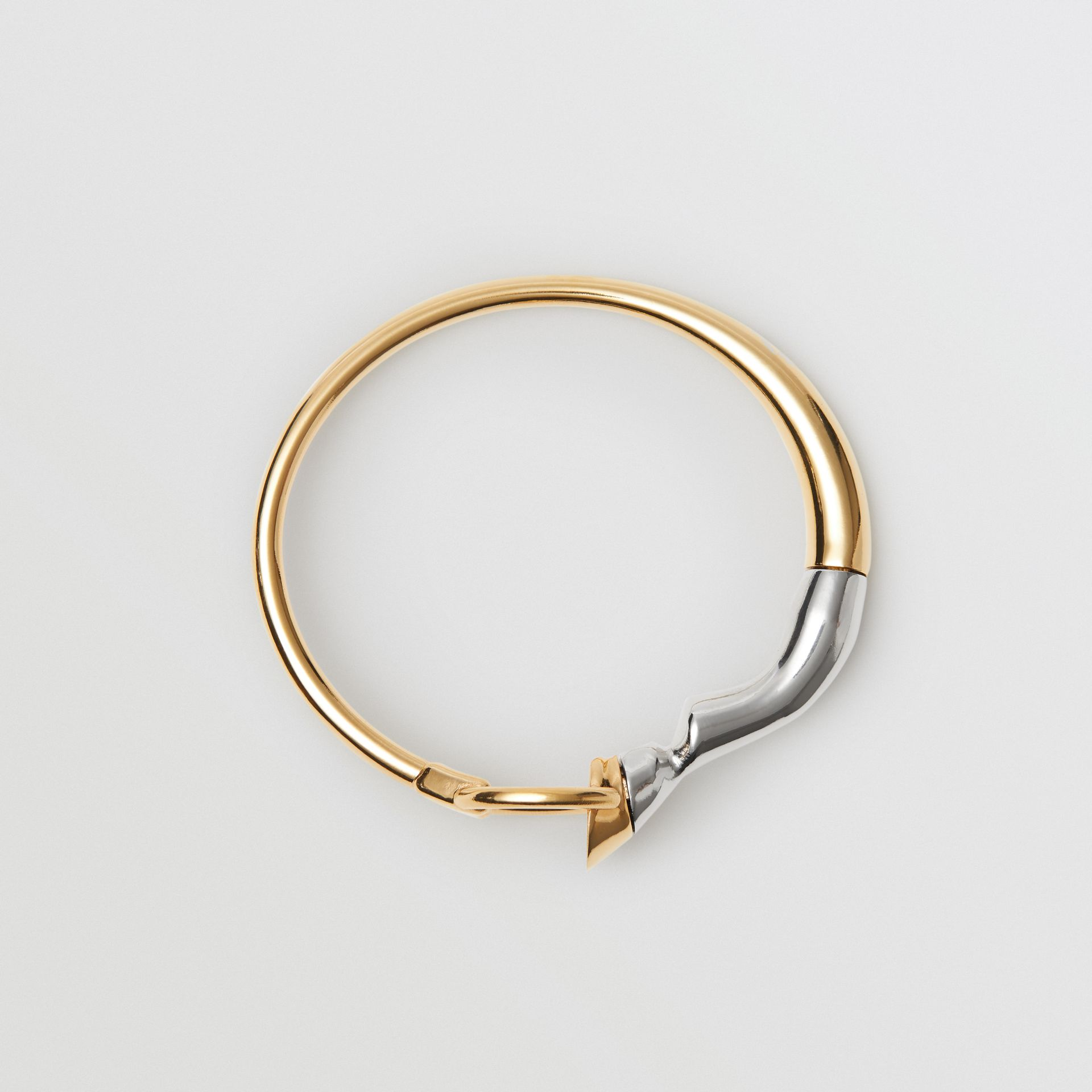 Gold and Palladium-plated Hoof and Hoop Bracelet in Light Gold/palladium - Women | Burberry Hong Kong - gallery image 0